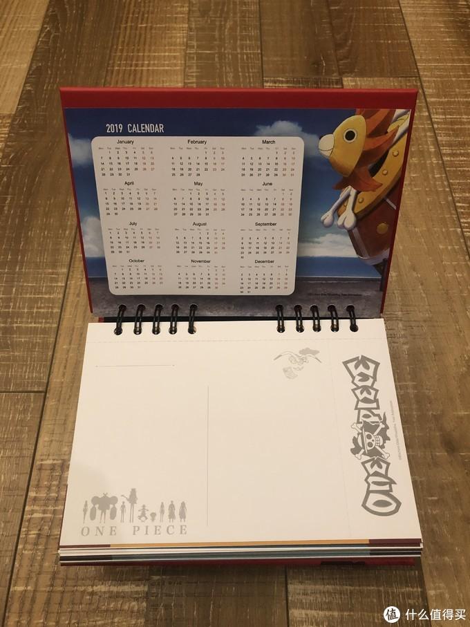 反面是2019的全年日历虽然已经马上结束了。