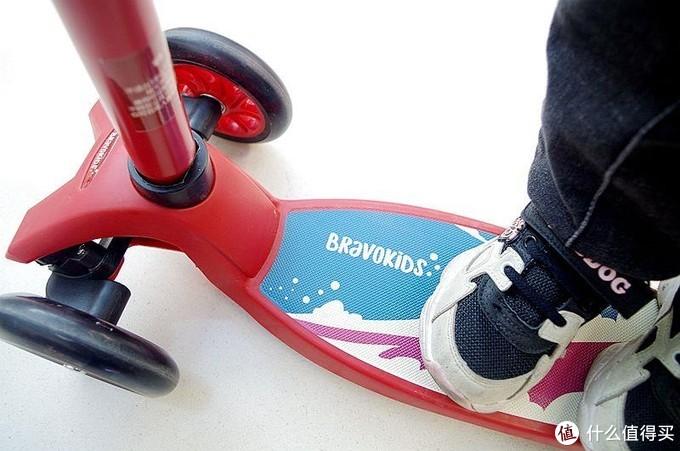 百元性价比Bravokids滑板车,玩乐代步两不误