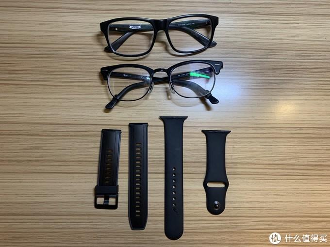 清洗完的眼镜和表带,清洗效果还是不错的