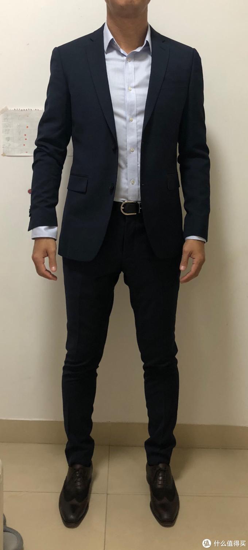 ESPRIT 男式西装 (蓝色)开箱及真人秀