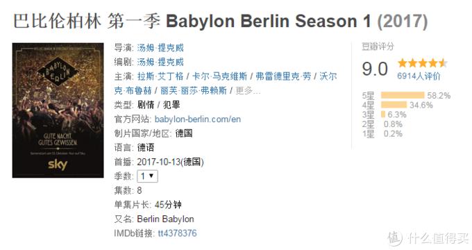 《巴比伦柏林》第一季豆瓣页面