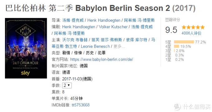 《巴比伦柏林》第二季豆瓣页面
