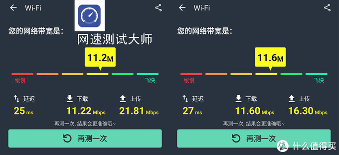 电信4G,网速测试大师测试