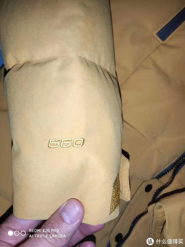 袖子上550蓬,但整体很厚实,大面包款