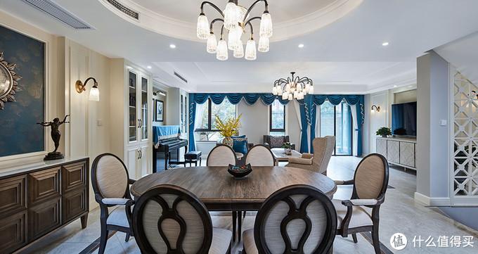 260㎡轻美式别墅,呈现温文尔雅的家