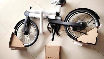 米家骑记电助力自行车使用说明骑记自行车怎么安装(配件|轮胎|撑脚)