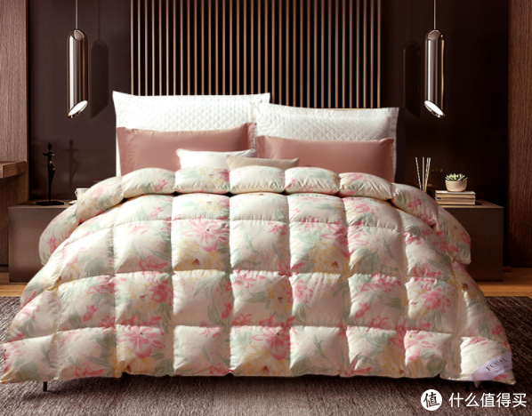 富安娜奥菲利亚系列95%白鹅绒芯厚被(尺寸230×229厘米,1100克绒量)