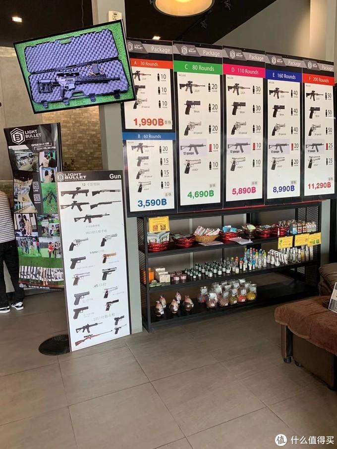 射击场的各种枪械介绍和套餐