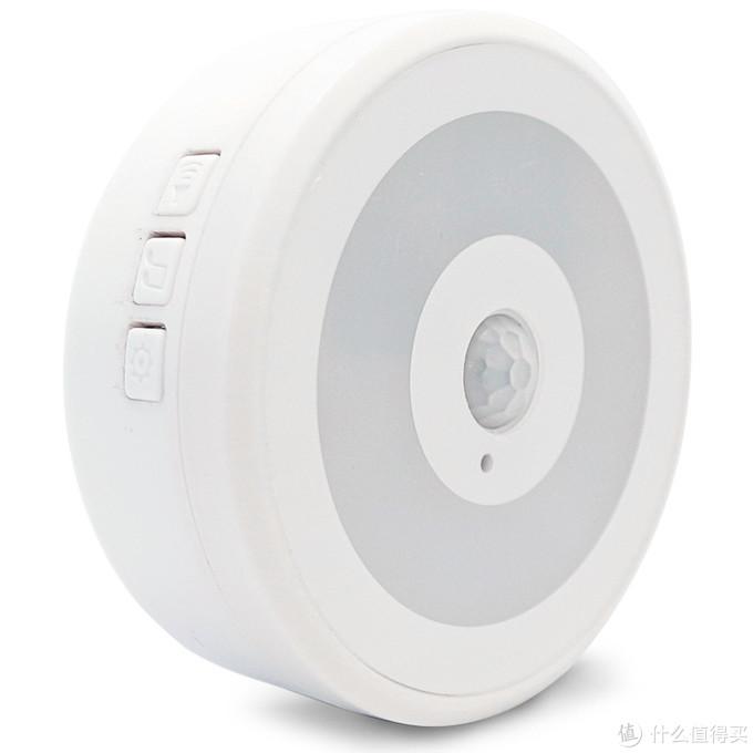 人体感应夜灯+响铃主机(白色)