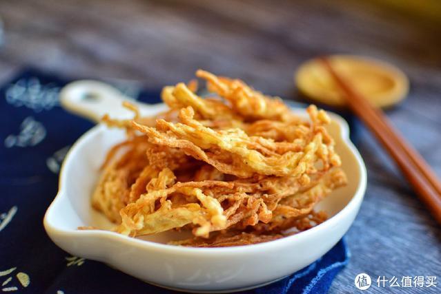 教大家一个金针菇新吃法,酥脆鲜香,孩子吃了不塞牙,越吃越上瘾