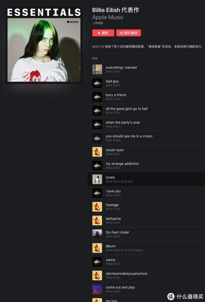 Billie Eilish比莉·艾利什 独揽Apple Music Awards三项年度大奖