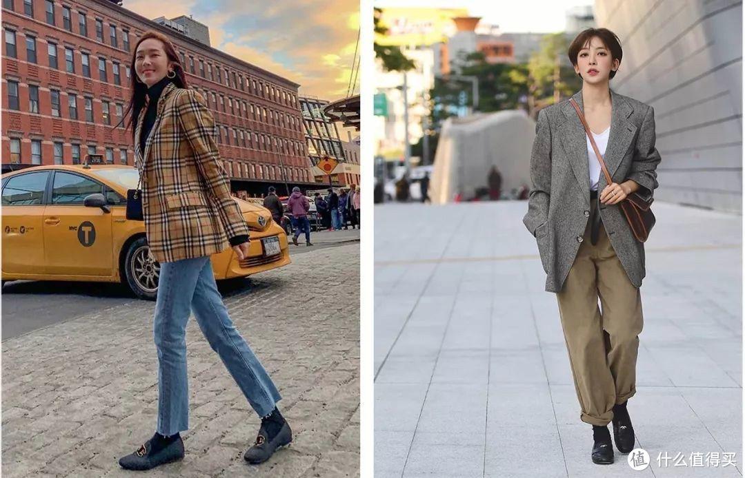秋冬别露脚踝了,今年流行露袜子,保暖时髦还减龄!