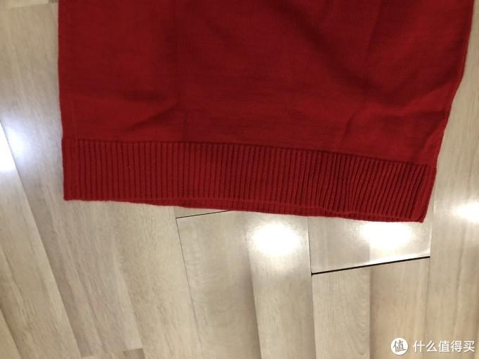 冬季囤货—拉夏贝尔长袖针织连衣裙毛衣(拉贝缇系列,大红色)