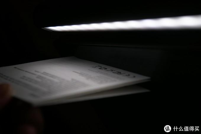 可以看到纸上的光照范围