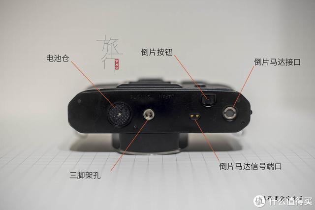 雅西卡FX-D底部视图,以及功能标注。 旅行实验室拍摄制作