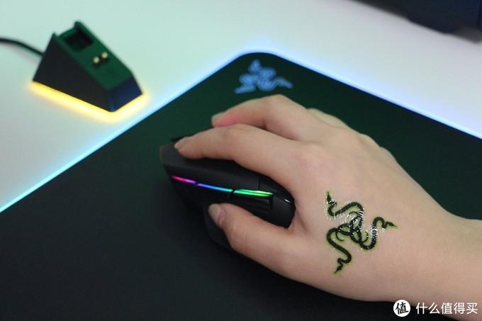 纯右手设计,最长处接近130mm,不是个小鼠标。