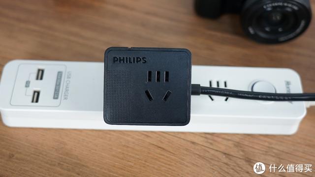 1/3的体积,更快的充电居家旅行好选择——飞利浦(PHILIPS)小飞魔方旅行18W快充智能插座