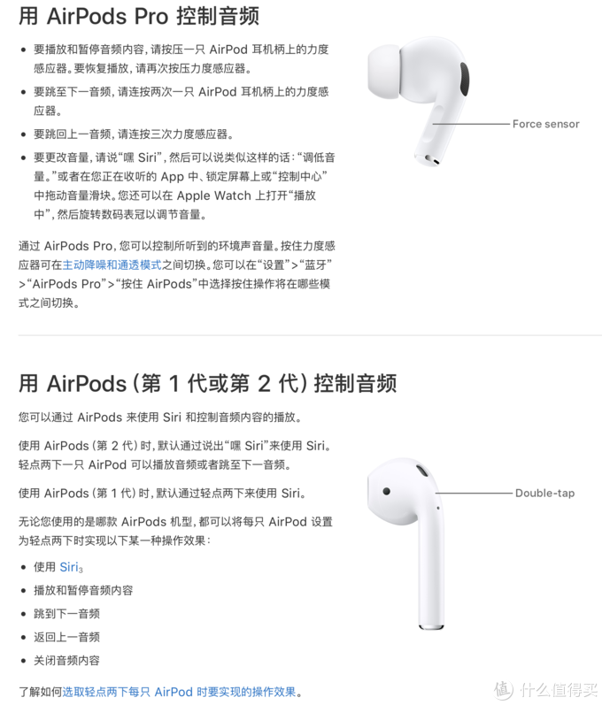 AirPods pro 和 AirPods 的使用区别
