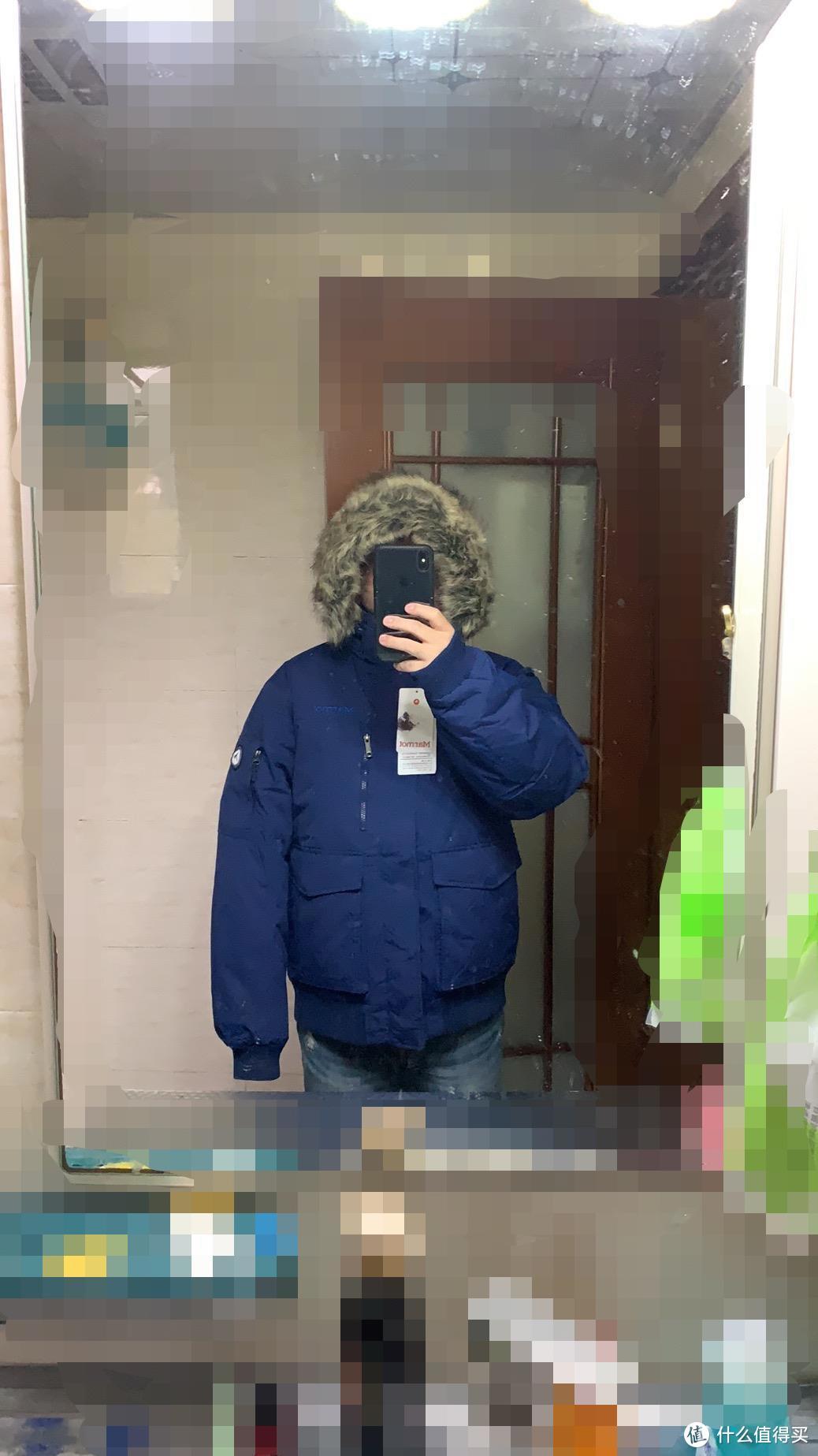 marmot土拨鼠2019秋冬新款户外拒水男士鹅绒保暖毛领羽绒服入手晒单
