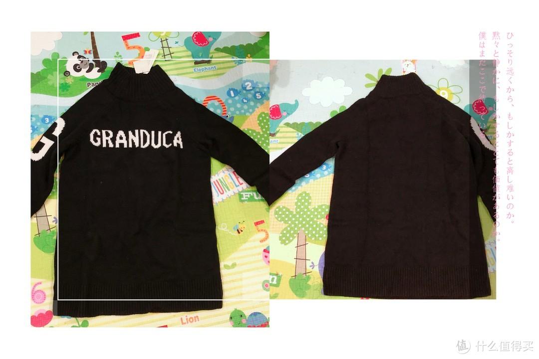 冬季囤货—拉夏贝尔长袖针织连衣裙毛衣(拉贝缇系列,黑色)