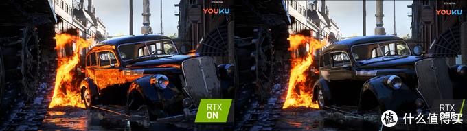 NV经典洗脑的RTX光线追踪,看上去是不是挺明显的
