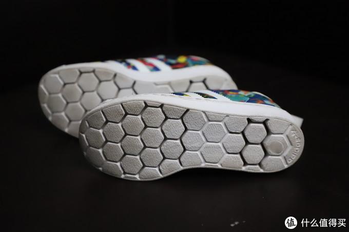 黑白色调的花花世界,三叶草贝壳头superstar 360C小童鞋×2