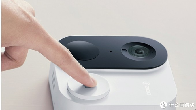 360 可视门铃1c D809智能摄像机摄像头可视门铃电子猫眼智能门铃