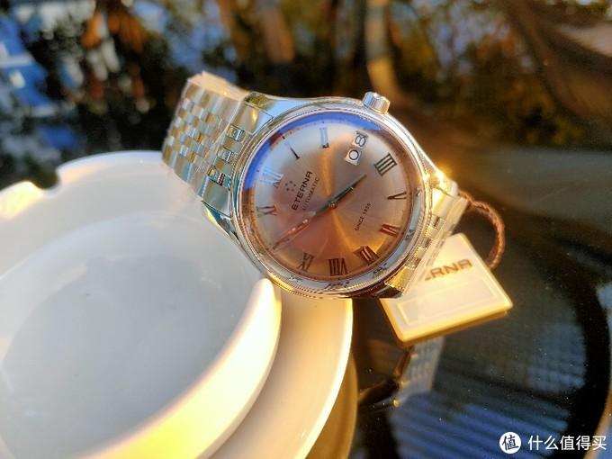 我的圣诞礼物,超薄ETERNA绮年华咖啡盘7630-41-55-1227男士腕表