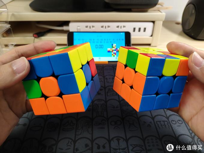 """▲▲ 第二步(2)复原中层,四个""""棱块"""",完成后如上图右"""