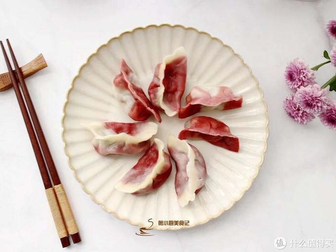 """""""冬至大如年"""",饺子花样包法,面粉中加点颜色,好吃又好看"""