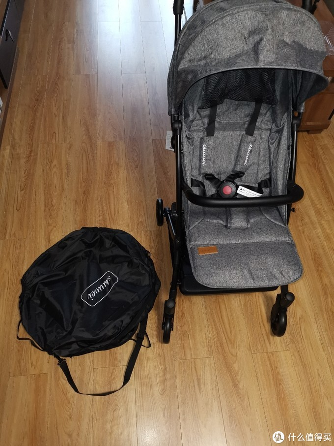 儿子人生第一辆半自动豪车:述威双向婴儿推车晒单