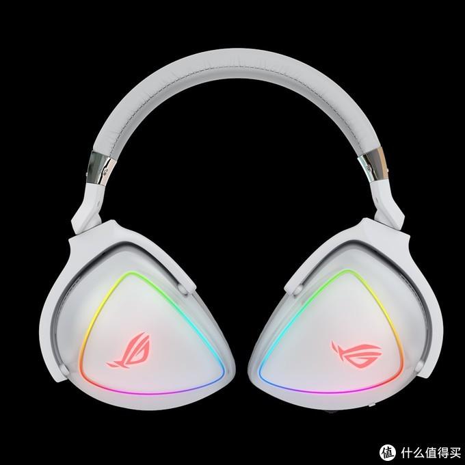 """神光同步+4路DAC:ASUS华硕 发布 ROG Delta""""棱镜"""" 白色限量版游戏耳机"""