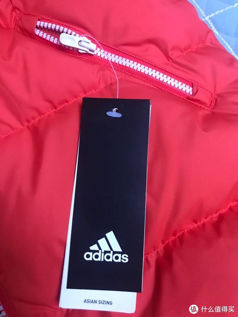 双十二晒单之adidas童装羽绒服(一)