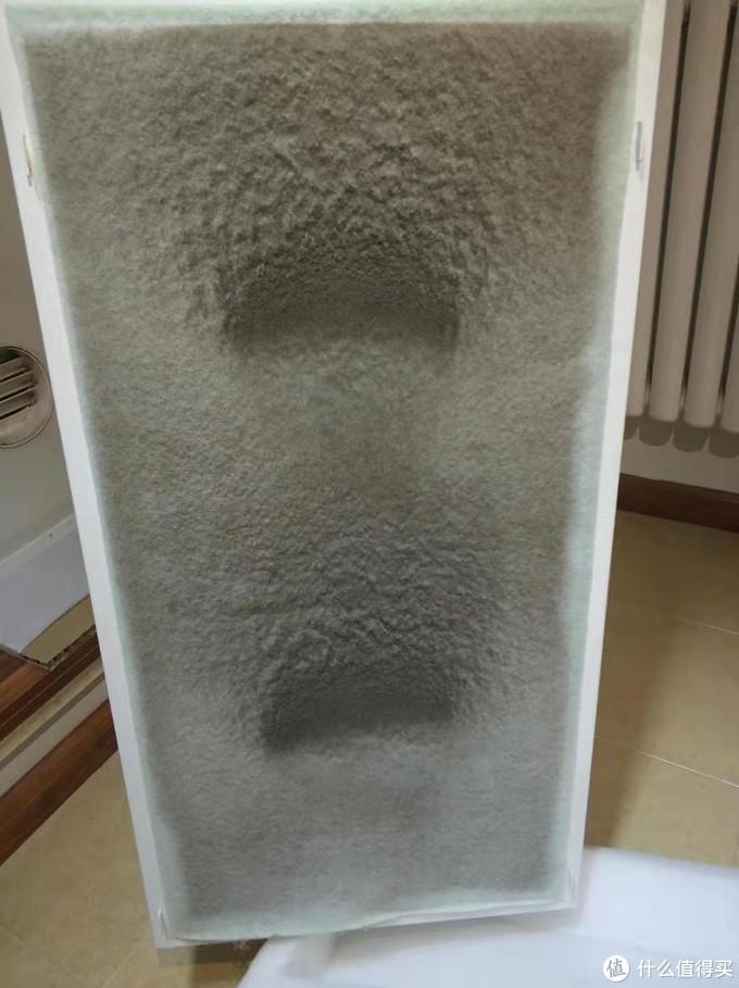 使用时间11月15日到12月20日,可以看出粗滤正面面已经厚厚的灰了