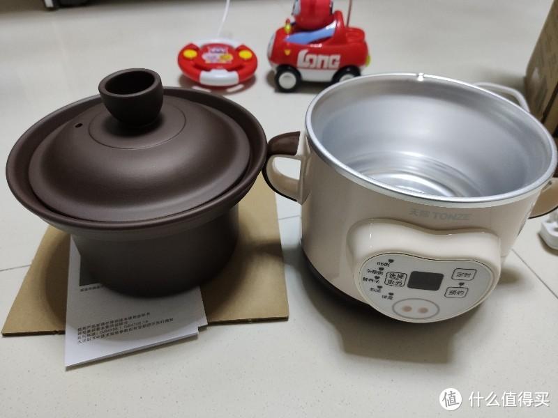 宝宝辅食好帮手:天际紫砂小电炖锅开箱