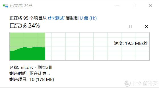 (朗科)小文件拷入测试 完成度24%