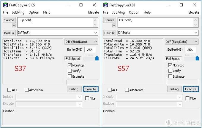 混合读取,s37仍旧以145+超过s57的116