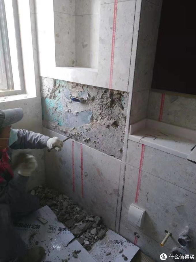 暗埋花洒的血泪史:前后凿了2次墙,就为把这头套1W+的花洒装上去