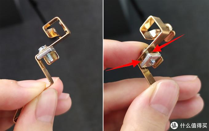 ABB压板压线,红色箭头指示接线位置