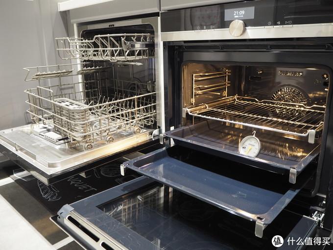 左边8套洗碗机偏小,右边70L烤箱