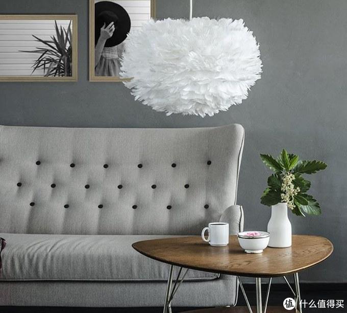 丹麦羽毛吊灯