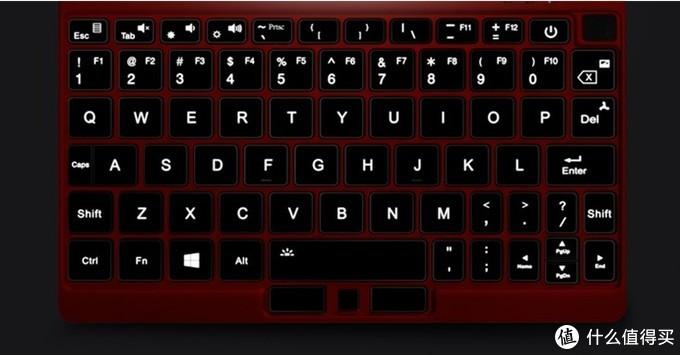壹号本OneMix 3Pro锦鲤限量版键盘背光效果