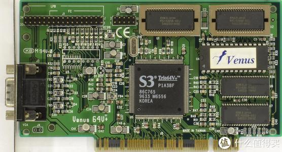 为S3立下赫赫战功的S3 Trio64V+显示卡