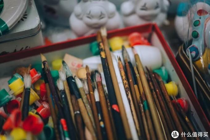 用于老北京兔儿爷彩绘的画笔