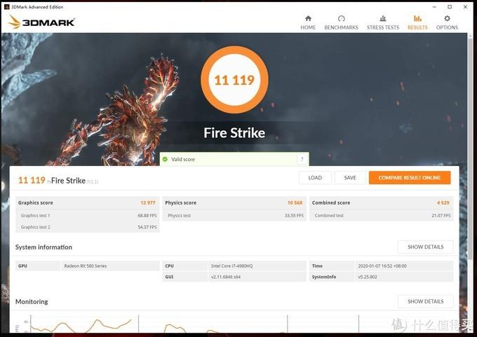 FireStrike得分11119,显卡分13977(测完发现GPUZ忘开了)