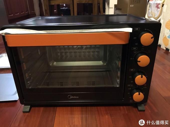 美的T3-L326B黑色烤箱开箱测评