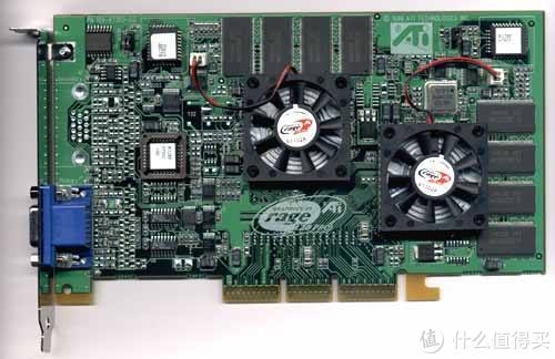 发现性能落后之后开始玩1+1的ATi,推出A卡最早的SLI双芯神器:Rage Fury Maxx(曙光女神)