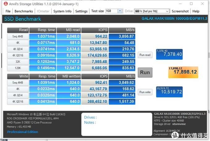 PCI-E 4.0加持,影驰 名人堂 HOF Pro 1TB测试