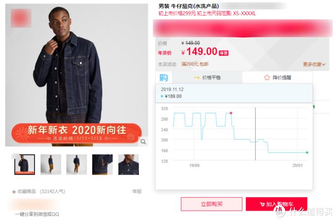 这款衣服,我们可以看到在这个平台上的历史价格