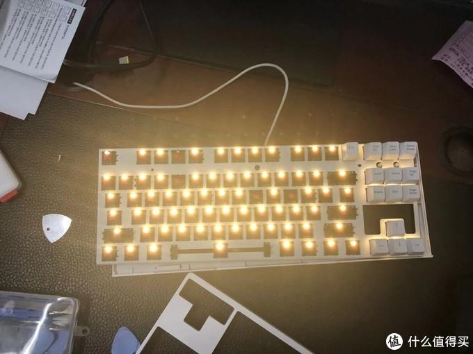 高斯GS87C 红轴键盘上手、加灯